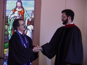 Receiving right hand of fellowship