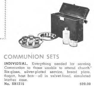 Advertisement for communion kit